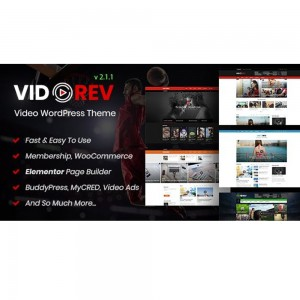 VidoRev v2.9.9.9.8.6 – Video WordPress Theme