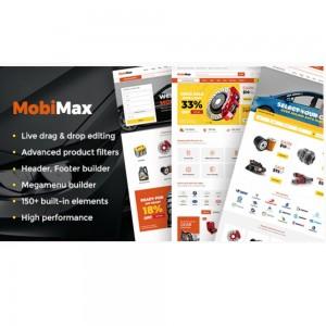 Mobimax – Auto Parts WordPress Theme + WooCommerce Shop v4.3