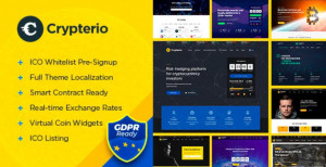 Crypterio – ICO Landing Page and Cryptocurrency WordPress Theme v.2.4.2 Free Download